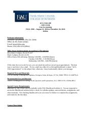ACG 3341-100 COST ACCOUNTING FALL 2016 SYLLABUS ONLINE - FINAL (JULY 19, 2016)(4)