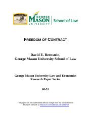 08-51 Freedom of Contract