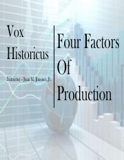 1-2  Four Factors of Production