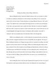 First Year Reading Assignment Reflection