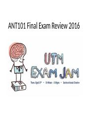 ANT101 Final Exam Review 2015.pptx