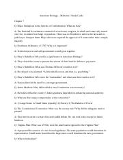 American Heritage - Midterm 2 Study Guide.docx