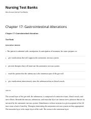 Chapter 17 Gastrointestinal Alterations Nursing Test Banks.pdf