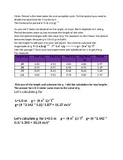 lab 8Hint-How to find Period and the value of (g)  in pendulum lab.docx