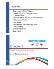 Chapter 4 Telecommunications and Networking