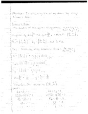 Cramer's Rule Notes