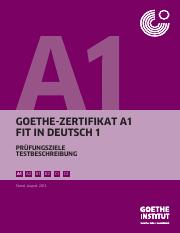 Prüfung a1 institut goethe Goethe