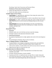 Psychology- Study Guide- Preservation and Protection Theory