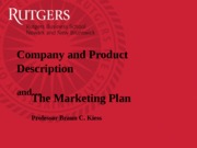 Session7-Product Description and Marketing Plan