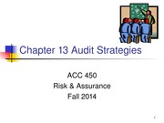 ACC 450 18 Audit Strategies Fall 14