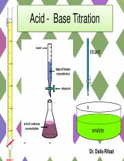 Acid and Base Titration -Fall 2016