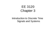 SP 2005 CH 3 Intro DT Signals and Systems