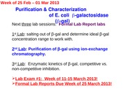 BISC 330L 2013 Lab 5 Ion Exchange Chromatography (CB)