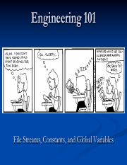 16 - File Streams, Constants, and Global Variables