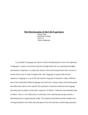 expos essay  final draft   through the union of language and