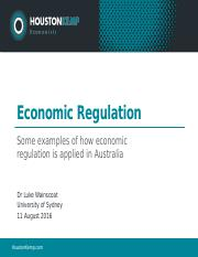 The Economics of Regulation - Week 3 - Some Examples.pptx