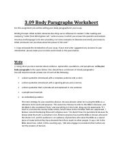 3.09BodyParagraphsWorksheet ray