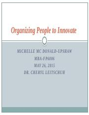 Organizing People to Innovate (1)