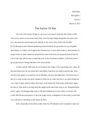 the sorrow of war essay
