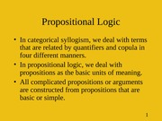 Wk 6-7 Propositional Logic