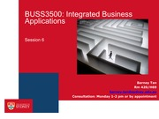 BUSS3500 Session 6