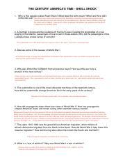 Shell Shock Video Qs Key Thecentury Americastime Shellshock 1