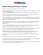 Article - Burger King Bar - CNN
