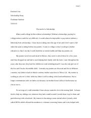 scholarship essay on camp