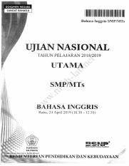 UN SMP 2019 B Inggris P4 [ lab] pdf 1111