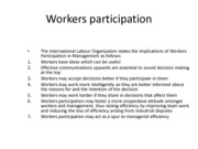 Workers participation (Assignment)