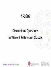 AF2602-Discussions questions in week 3 & revision classes (Bb)(1)