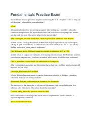 Fundamentals Skills HESI Practice Exam A - 1 Saunders