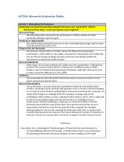 Critical Thinking Module 6 Research Evaluation Tables.docx