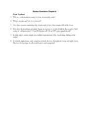 Review Questions Chapter 9