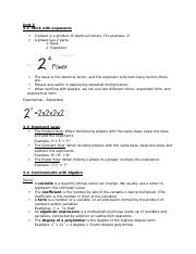 Principles of Mathematics 9 Unit 3 Notes