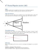 Physics Notes - TABLE OF CONTENTS 2 CHAPTER 1 4 CHAPTER 2 6 CHAPTER