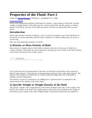 Properties of the Fluid.doc