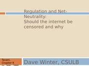 Chapter 9 - Regulation and Net-Neutrality