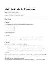 Math 149 Lab 5 Exercises