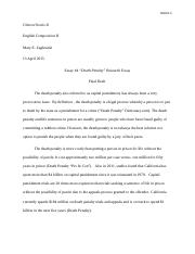 Death Penalty Essay-Final Draft