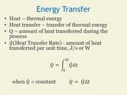 Energy Transfer and Intro thermal conduction
