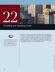 Ch22_Providing and optaining Credit FIN MAN_BRIGHAM PDF_INTERMEDIATE book_inter