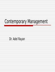 Contemporary Management new1