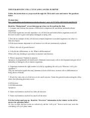 Cellcycle Worksheet S15 1 The Eukaryotic Cell Cycle And Cancer
