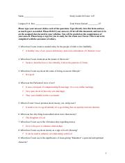 Foster Study Guide 1.doc