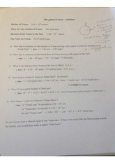 planet rotation problem solutions