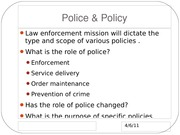 470 Police & Policy slides