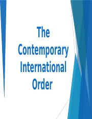 The Contemporary International Order.pptx