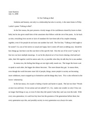 English 2027-Poetry Response Paper