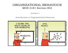 Lecture1owlec organizational behaviour mos 2181 section 002 this is the end of the preview sign up to access the rest of the document unformatted text preview organizational behaviour fandeluxe Gallery